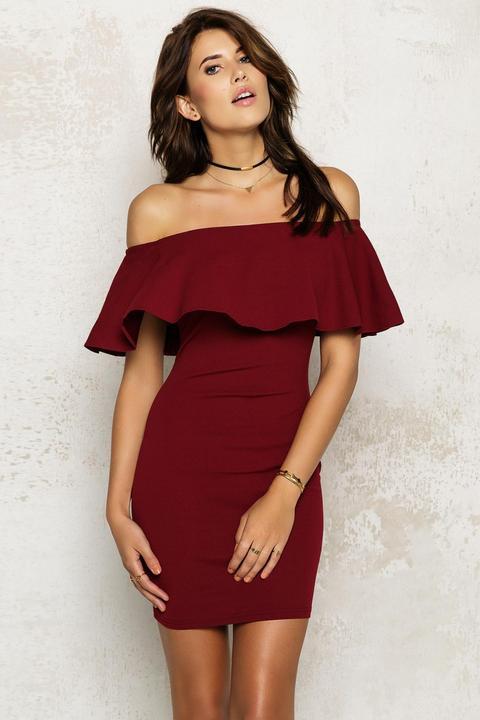 Take Me Out Dress Bordeaux
