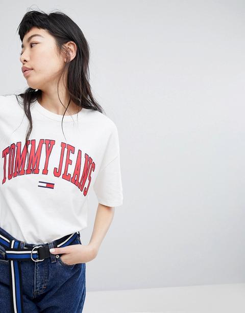 Tommy Jeans Collegiate Logo T-shirt - White