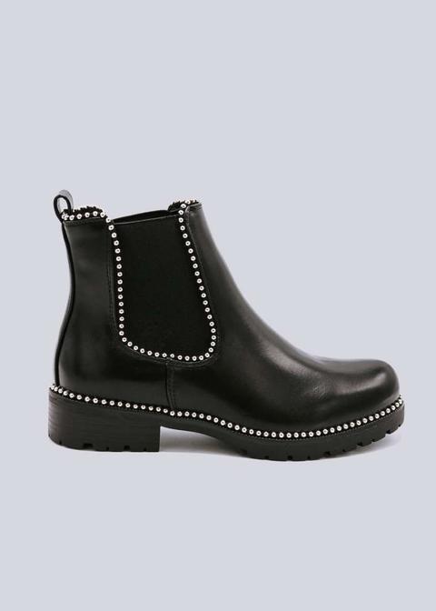 low cost ea80d 94100 Chelsea-boots Mit Kleinen Kugelnieten, Schwarz from Sassy Classy on 21  Buttons