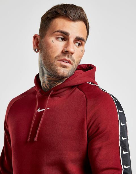 Nike Tape Fleece Overhead Hoodie - Red