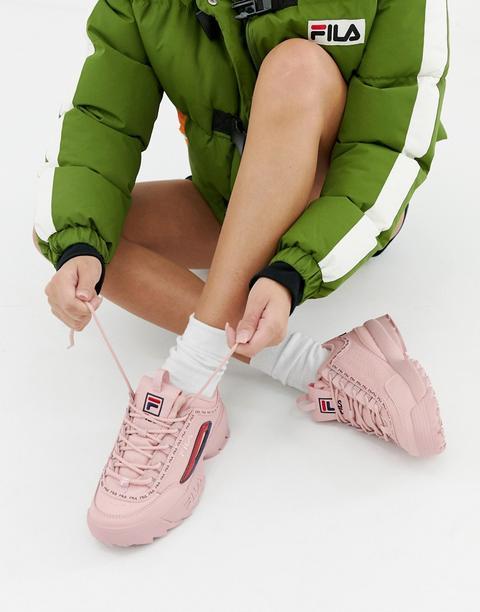Fila Disruptor 2 Sneakers Rosa Premium Con Logo E Fettuccia Rosa from ASOS on 21 Buttons