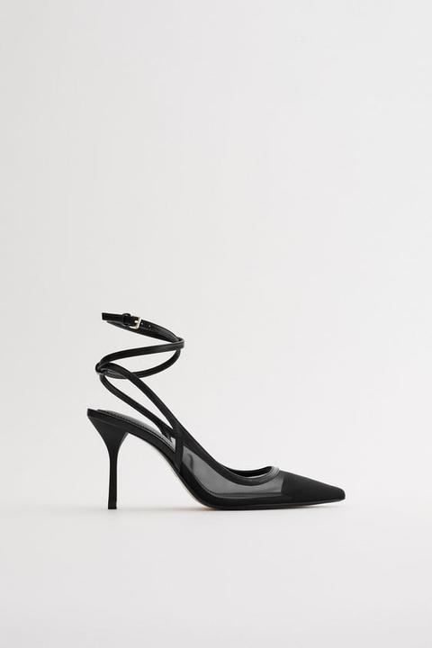 Zapato Tacón Pulsera Rejilla