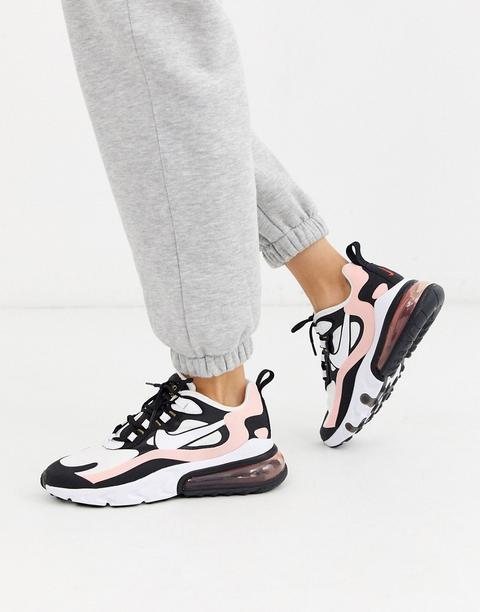 mejor online 60% de liquidación mejor selección de 2019 Nike Pink And Black Air Max 270 React Trainers-white from ASOS ...