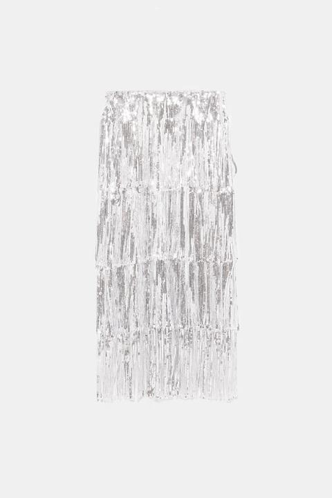7c9a497836 Denim Midi Skirt from Zara on 21 Buttons