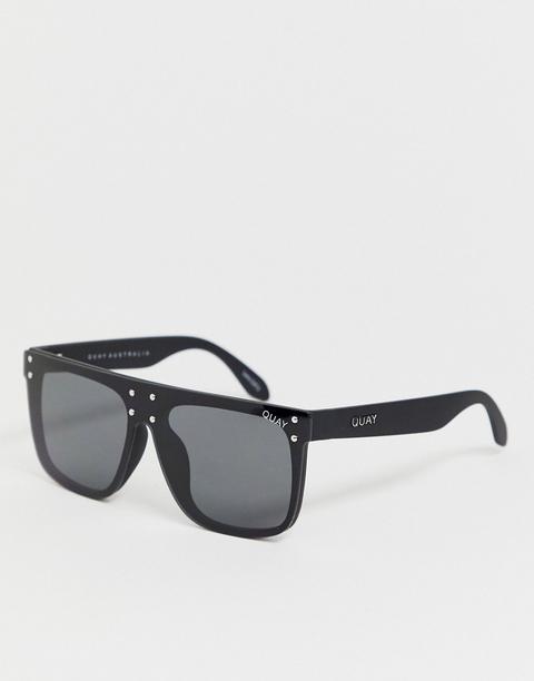 Gafas De Sol Negras Con Barra Superior Plana Hidden Hills De Quay Australia de ASOS en 21 Buttons