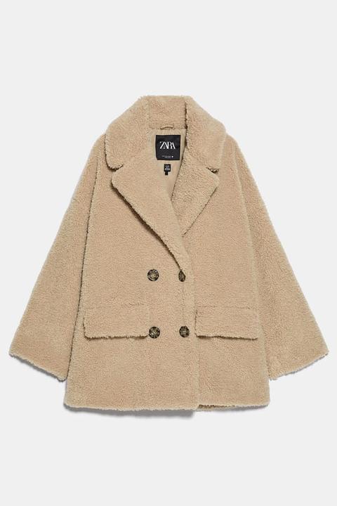 Chaquetón Borreguillo de Zara en 21 Buttons