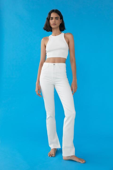 Jeans Z1975 High Rise Slim Flare Aberturas