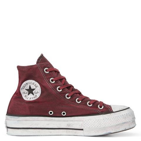 Converse Chuck Taylor All Star Canvas Rust Platform High Top de Converse en 21 Buttons