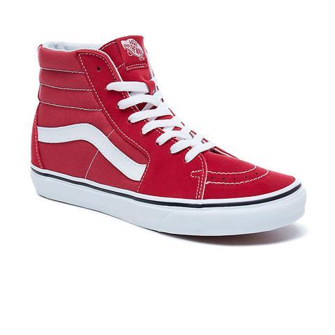 Vans Sk8-hi Shoes (crimson-true White