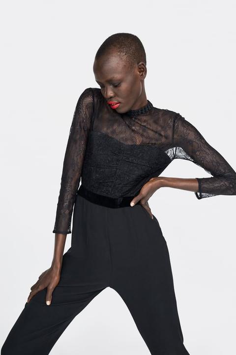 garantía de alta calidad Precio de fábrica 2019 mejor autentico Mono Combinado Encaje de Zara en 21 Buttons