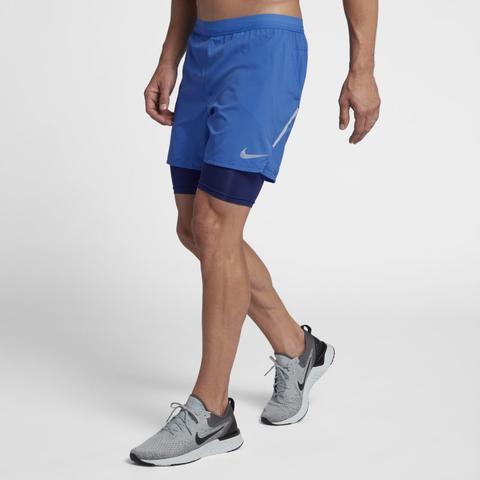 Nike Flex Stride 2 in 1 Herren laufshorts (ca. 12,5 Cm) Blau from Nike on 21 Buttons