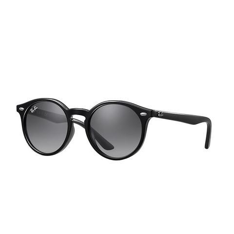 Rj9064s Unisex Sunglasses Lentes: Gris, Montura: Negro de Ray-Ban en 21 Buttons