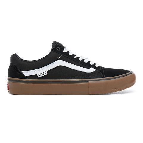 Vans Zapatillas Old Skool Pro (black-white-gum) Mujer Negro de Vans en 21 Buttons