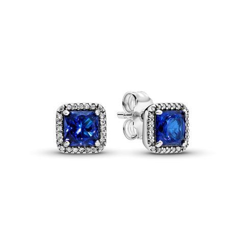 Pendientes En Plata De Ley Elegancia Atemporal Azul de Pandora en 21 Buttons