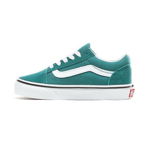 zapatillas vans niño verde