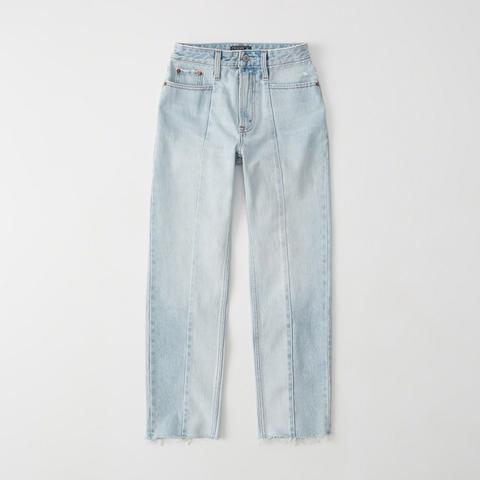 Jeans Rectos Tobilleros De Tiro Alto de Abercrombie & Fitch en 21 Buttons
