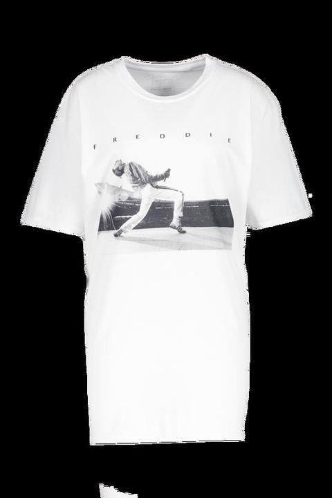 Robe T Shirt Freddie Mercury Officiel Blanc 36 Blanc From Boohoo On 21 Buttons