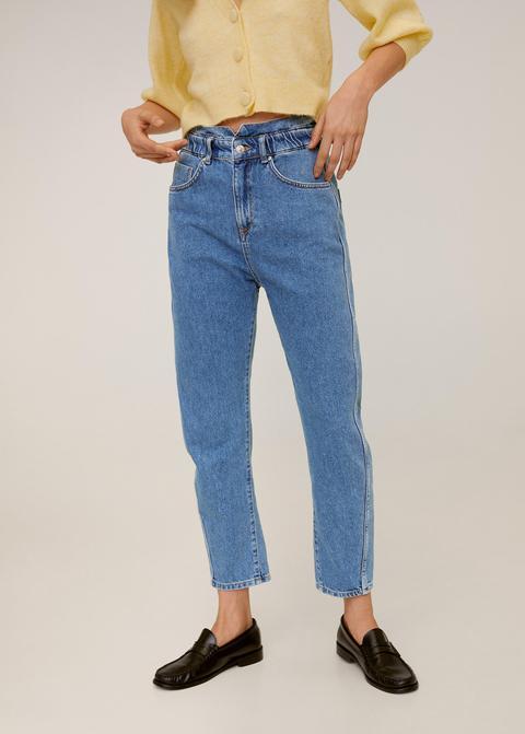 Jeans Slouchy Cintura Elastica