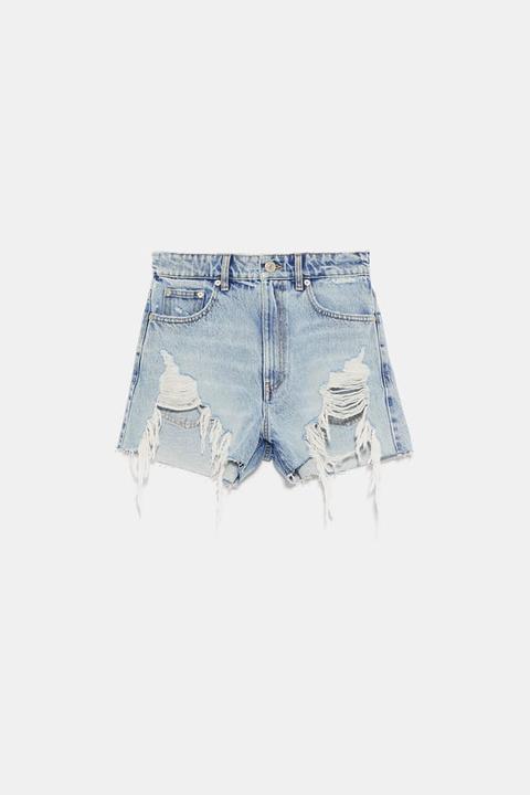 Shorts Denim Hi Rise Rotos