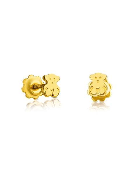 Tous - Pendientes Baby En Oro Amarillo De 18ct Y Cierre Rosca de El Corte Ingles en 21 Buttons