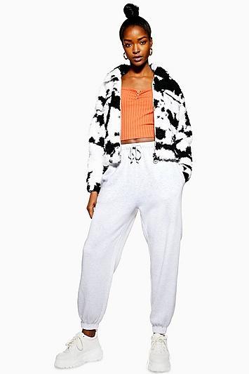 Oversize-jogginghose Im 90er-jahre-stil - Grau Meliert