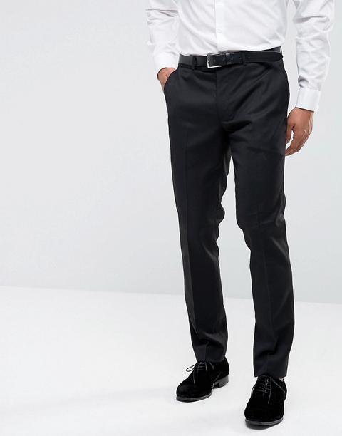 Farah Skinny Tuxedo Suit Trousers-black