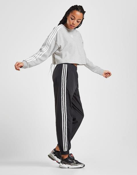 Adidas Originals 3 stripes Crop Crew Sweatshirt Black