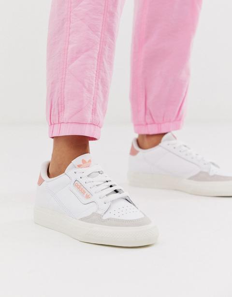Zapatillas En Blanco Y Rosa Continental 80 Vulc De Adidas Originals de ASOS en 21 Buttons