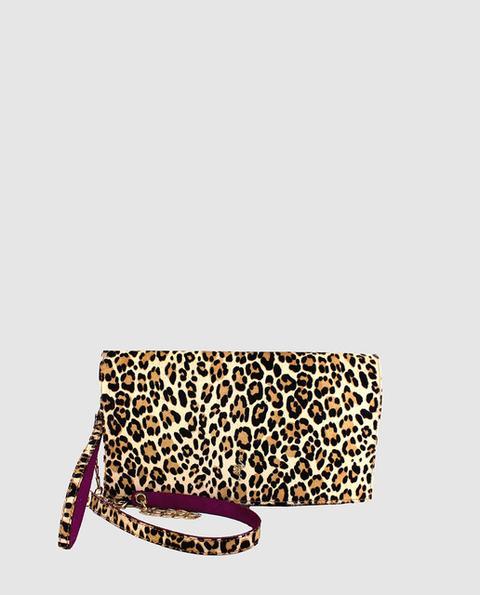 Menbur - Cartera De Mano De Fiesta De Piel Estampado Animal Print De Leopardo de El Corte Ingles en 21 Buttons