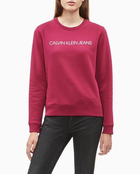 Calvin Klein Jeans - Sudadera De Mujer Con Logo Y Cuello Redondo de El Corte Ingles en 21 Buttons