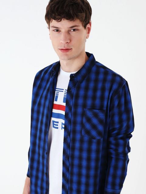 super popular 22ad9 f54f7 Camicia Quadri Var Blu Jeans from Terranova on 21 Buttons