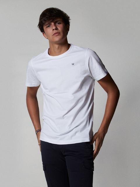 Camiseta Basica Minilogo Blanca de Silbon en 21 Buttons