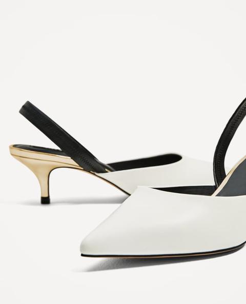 Zapato Tacón Destalonado Combinado