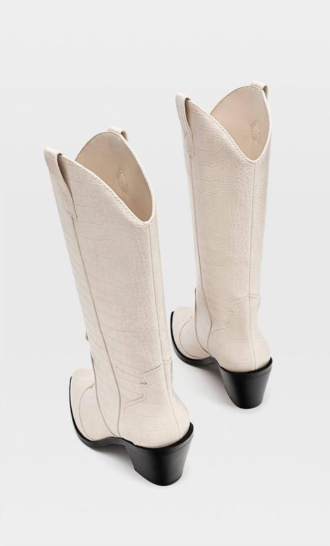 Botas Cowboy Grabado de Stradivarius en 21 Buttons