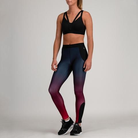 Zapatos 2018 última moda comprar baratas Mallas Leggings Deportivos Cardio Fitness Domyos 500 Mujer Burdeos from  Decathlon on 21 Buttons