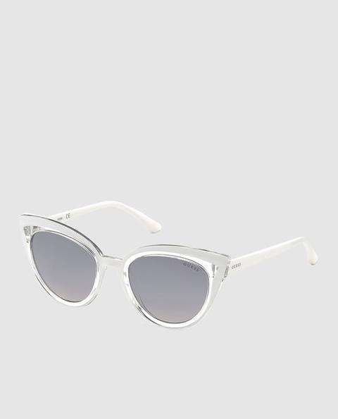 Guess - Gafas De Sol De Mujer Cat Eye En Blanco Con Lentes Degradadas de El Corte Ingles en 21 Buttons