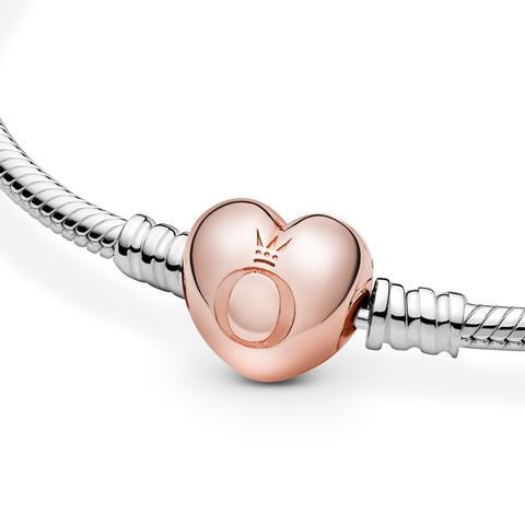 Pulsera Moments Pandora Rose Con Cierre Corazón Para Charms