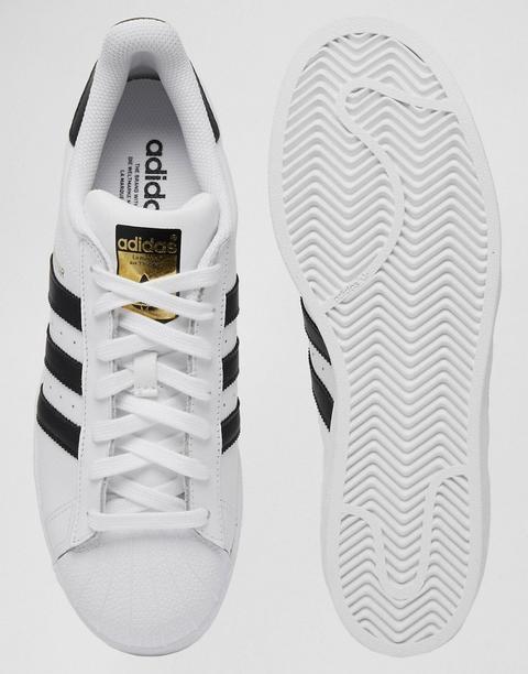 Adidas Originals - Superstar - Sneakers Bianche C77124 - Nero