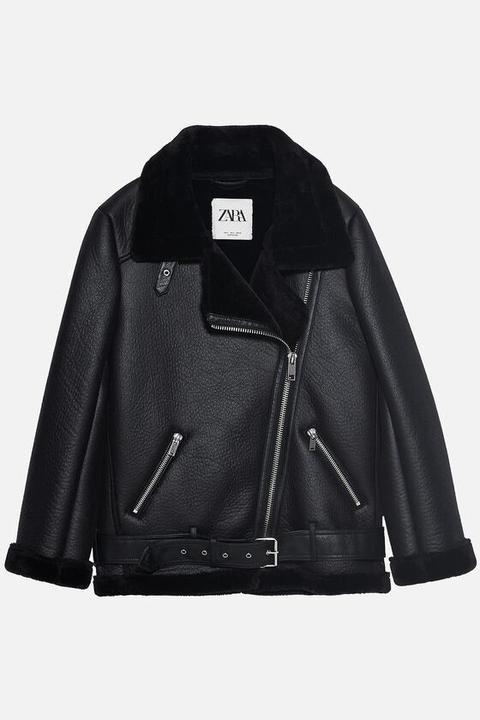 Cazadora Biker Doble Faz de Zara en 21 Buttons