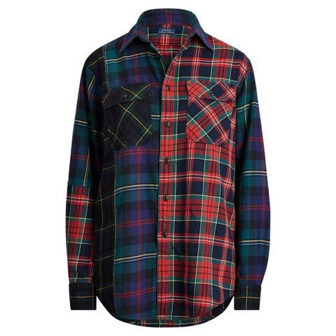 Camisa De Algodón De Cuadros En Contraste de Ralph Lauren en 21 Buttons