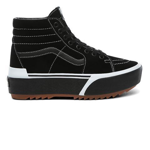 Vans Zapatillas De Ante Sk8-hi Stacked ((suede) Black/gum) Mujer Negro de Vans en 21 Buttons