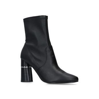 Carvela Spoken - Black Leather Heeled Sock Boots from Kurt Geiger on 21 Buttons