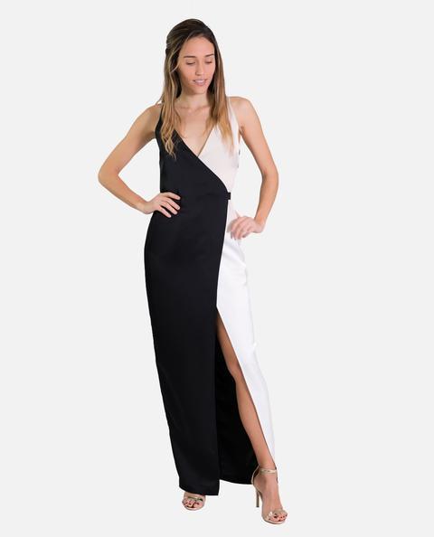 Vestido Camille · Blanco Y Negro de THE-ARE en 21 Buttons