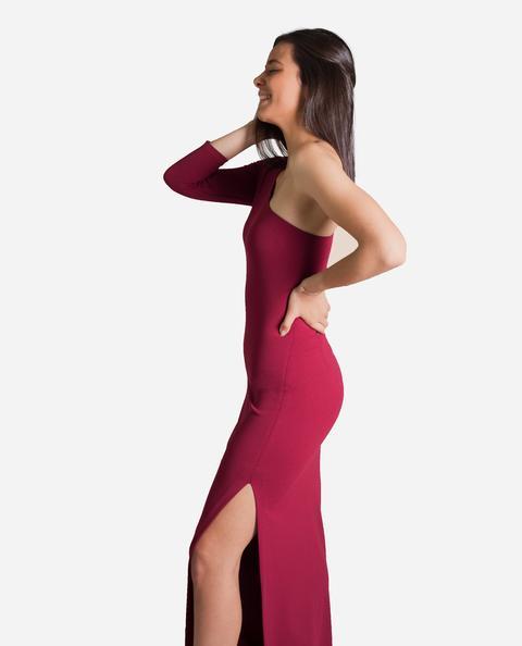 Vestido Gala · Granate