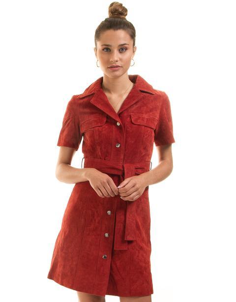 Vestido Ante Rojo De Morgan De Toi | Buylevard de Buylevard en 21 Buttons