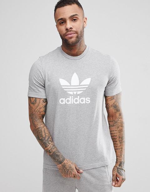 T Originals Adidas Gris 21 Adicolor Shirt Asos Buttons Trèfle On Cy4574 Logo Avec From kN8Pn0OwX