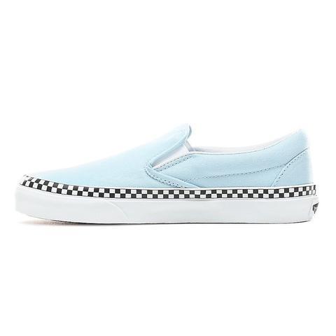 Get - vans slip on check foxing blue