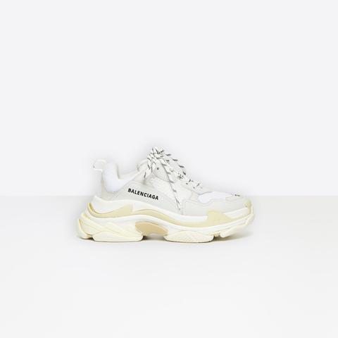 Sneakers Multimaterial Oversize Con Efecto Acolchado