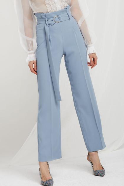 Nova High Waist Pants W/ Sash Belt de Storets en 21 Buttons