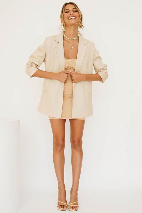 Vg Hotel Paradiso Linen Blazer // Natural de Verge Girl en 21 Buttons